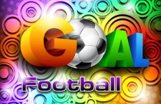 Colorful Football Goal Background Vector 02