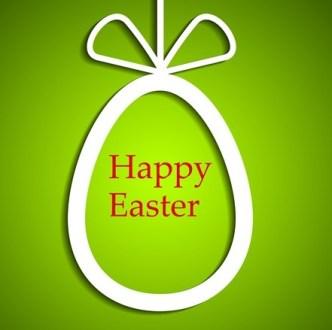 Elegant Happy Easter Eggs Desgin Vector 01