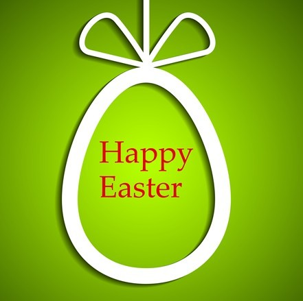 Elegant Happy Easter Eggs Desgin Vector 01