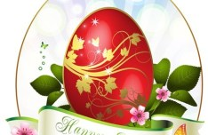 Elegant Happy Easter Eggs Desgin Vector 02