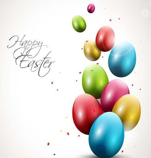 Elegant Happy Easter Eggs Desgin Vector 04