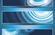 Set of Vector Blue Abstract Business Banners 01