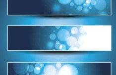 Set of Vector Blue Abstract Business Banners 02