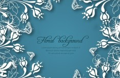 Vector White Floral Background 01