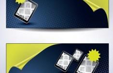 Vector iPad Sales Banners Design 02