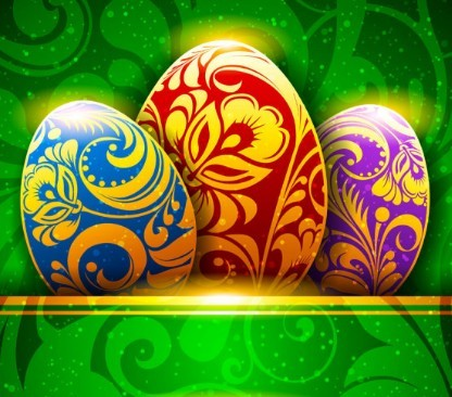 Elegant Happy Easter Card Templates Vector 05