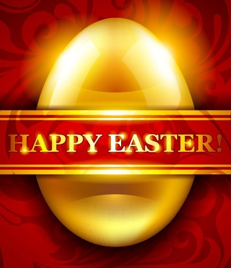 Elegant Happy Easter Card Templates Vector 07