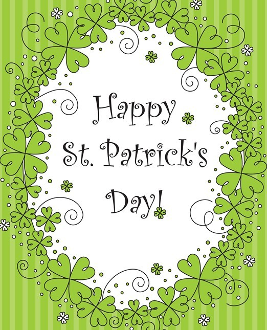 Green Happy St.Patrick's Day Card Background Vector