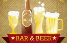 Set of Vector Premium Brewery Bar and Bear Labels 02