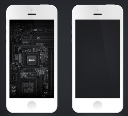 Clean iPhone 5 Template PSD