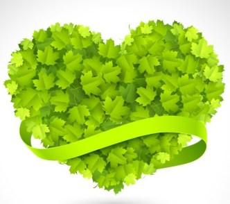 Clean Green Leaves Vector 03