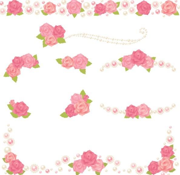Free cute pink flower borders vector 02 titanui cute pink flower borders vector 02 mightylinksfo