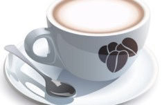 Vector Elegant Coffee Cup Design Material 05