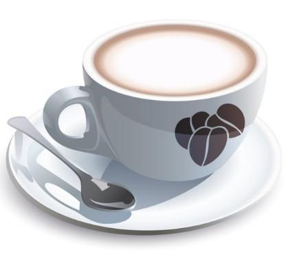 Vector Elegant Coffee Cup Design Material 05