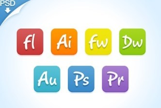 Candy Adobe Products Icon Set