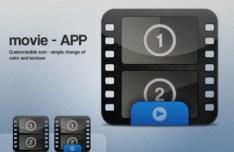 Glossy Movie App Icons