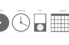 Simple Minimal Grey Web Icons PSD