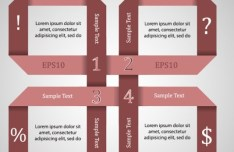 Vector Origami Infographic Option Labels 11