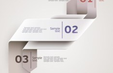 Vector Origami Infographic Option Labels 12