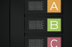 Fashion Origami Step Options Vector Label For Infographic 01