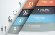 Fashion Origami Step Options Vector Label For Infographic 07