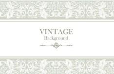 Pastel Vintage Floral Vector Borders and Frames 02