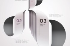 Fashion Vector Origami Option Labels For Infographic 03