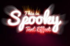 Spooky Text Effect Layered PSD