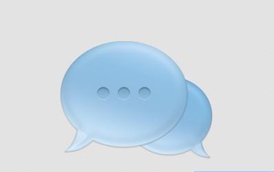 Blue Chat Bubbles PSD Icon