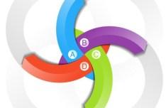 Creative Colored Letters Label Sticker Vector 03