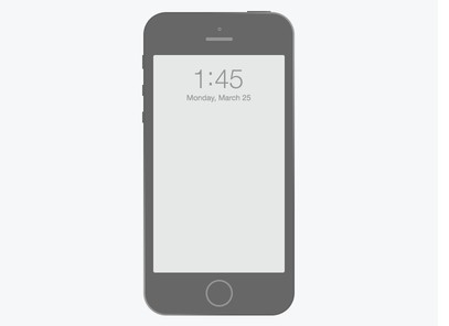 Flat iPhone 5 Wireframe PSD