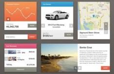 Stylish Grid Layout Web UI Kit PSD