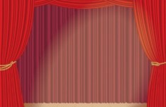Vector Red Stage Curtain 01