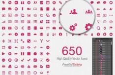 650+ Elegant Web Icons Vector