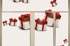 Clean Vector Holiday Banners With Gift Box Backgrounds