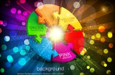 Fashion and Bright Vector Disco Background 04