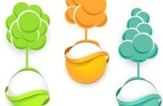 Green ECO Concept Vector Elements 03