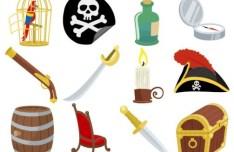Vector Cartoon Pirate Elements 04