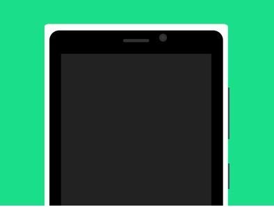 Flat Lumia 920 Mockup PSD