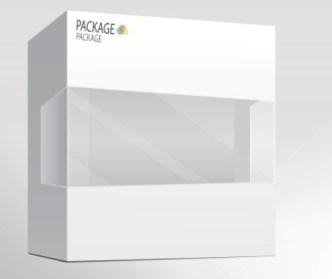Semi-Transparent Product Packaging Box Design Vector 02