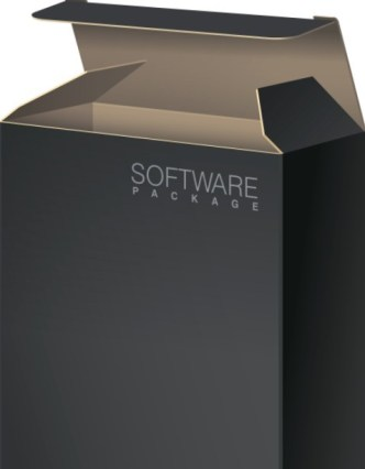 Stylish Software Package Design Template Vector 01