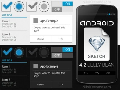 Android 4.2 Sketch App UI Kit PSD