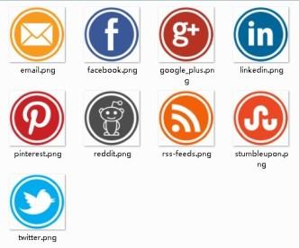 Label Style Social Media Icon Set