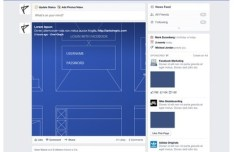 Facebook News Feed GUI PSD