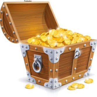 Vector Pirate Treasure Chest Full of Gold 05