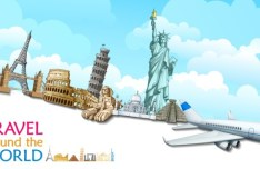 Most Famous Landmarks in the World Vector Illustration 04