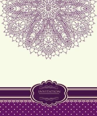 Retro Pink Invitation Card Cover Design Elements Vector 02