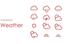 16+ Simple and Clean Vector Weather Icons