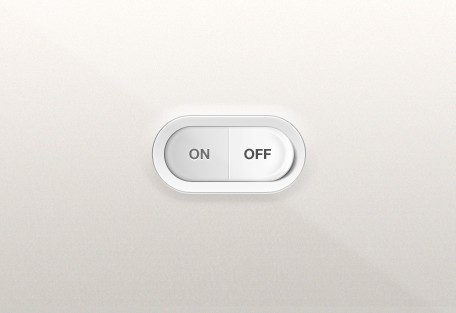 Sleek Switch On OFF Button PSD