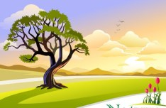 Vector Cartoon Nature Background 03